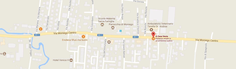Locazione Trattoria A Casa Vecia, clicca per la mappa